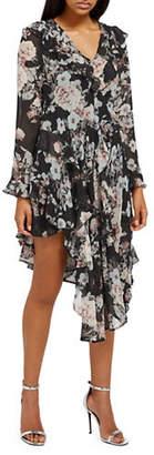 Missguided Chiffon Floral Midi Dress