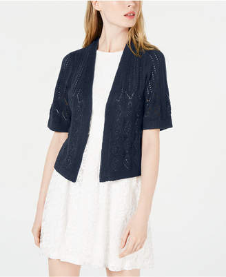 Robbie Bee Petite Pointelle-Knit Shrug