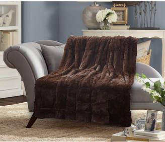 De Moocci Faux Fur Medium Pile Throw Blanket