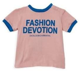 Dolce & Gabbana Baby Girl's Fashion Devotion Short Sleeve T-Shirt