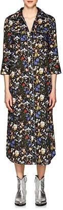 R 13 Women's Cowboy Floral Cotton Shirtdress