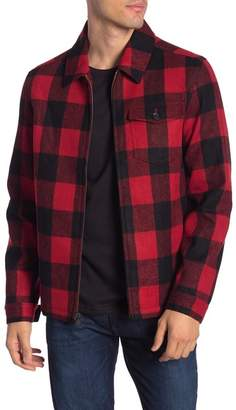Calvin Klein Buffalo Plaid Wool Blend Shirt Jacket
