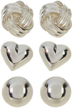 Argento Vivo Sterling Silver Stud Earrings - Set of 3 $75 thestylecure.com