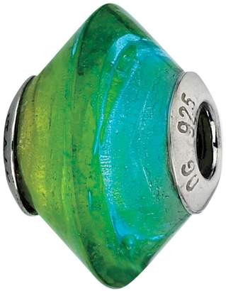 Murano Prerogatives Blue & Green Italian GlassBead