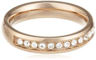 Dyrberg/Kern Women's Ring Gold-Plated Metal Swarovski Crystal 54 (17.2)