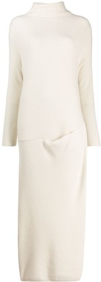 Loro Piana turtle neck knitted dress