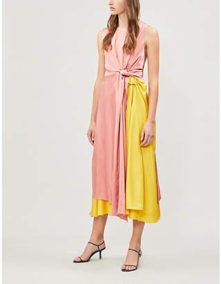 Roksanda Nyimi two-tone silk-georgette midi dress