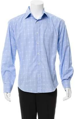 Etro Geometric Strip Button-Up Shirt