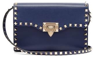 697234646a Valentino Rockstud Leather Cross Body Bag - Womens - Navy
