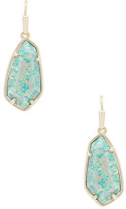 Kendra Scott Camelia Earring in Metallic Gold. $130 thestylecure.com