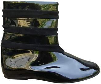 Les Prairies de Paris Black Patent leather Ankle boots