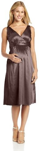Ripe Maternity Women's Maternity Deluxe Satin Dress