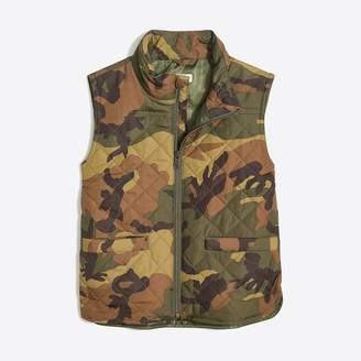 J.Crew Factory Boys' Walker vest in camo print