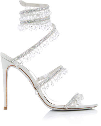 Rene Caovilla Exclusive Crystal-Embellished Sandal