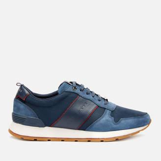 Ted Baker Men's Lhennis Textile/Nubuck Running Style Trainers - Dark Blue