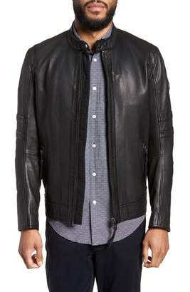 BOSS Jaylo Slim Fit Leather Moto Jacket