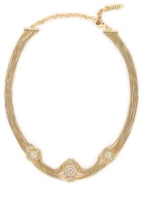 Luv Aj 14-karat Gold-plated Crystal Choker
