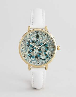 Asos Design DESIGN Embroidered Baroque Snake Watch