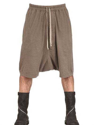 Rick Owens Light Cotton Jersey Low Crotch Shorts