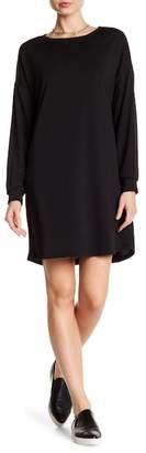 GOOD LUCK GEM Keyhole Back Long Sleeve Sweatshirt Dress