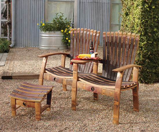 Barrel Stave Adirondack Loveseat