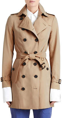 Burberry The Sandringham - Mid-Length Slim Fit Heritage Trench Coat, Honey
