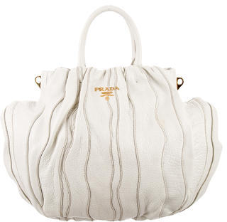 prada Prada Cervo Lux Waves Satchel