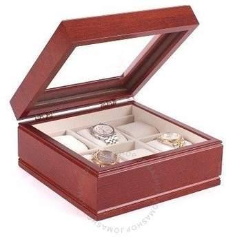 The Lieutenant Six Watch Glass Top Storage Watch Chest - Solid Cherry