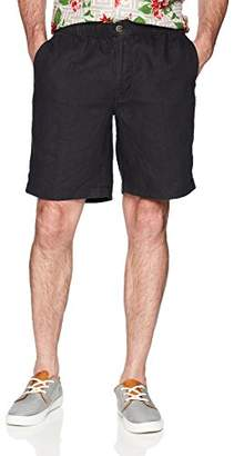 "28 Palms Men's Relaxed-Fit 9"" Inseam Linen Short Drawstring"