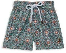 Boy's Floral Drawstring Swim Shorts