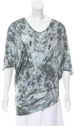 Helmut Lang Short Sleeve Printed Top