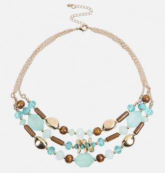 Avenue Turquoise Wood Layered Necklace