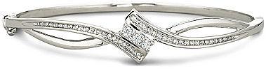 JCPenney FINE JEWELRY 1/4 CT. T.W. Diamond Sterling Silver Bracelet