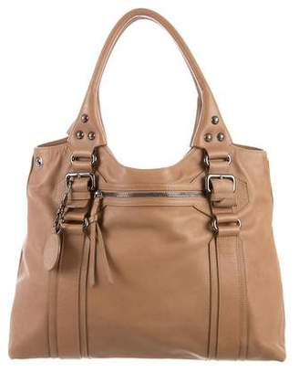 Giorgio Armani Leather Shopper Tote