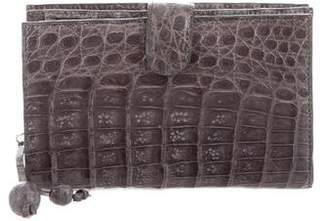 Nancy Gonzalez Crocodile Compact Wallet