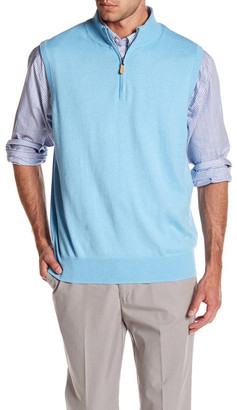 Peter Millar Quarter Zip Vest $125 thestylecure.com