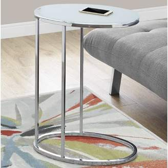 Generic Monarch Accent Table Oval / Chrome / Frosted Tempered Glass