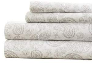 Blissful Bedding Premium Ultra Soft Paisley Four-Piece Bed Sheet Set
