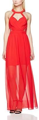 BCBGMAXAZRIA Women's VDW63K93 Full-Length Cocktail Sleeveless Dress,6 (Manufacturer Size: 38)