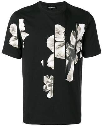 Neil Barrett collage floral print T-shirt