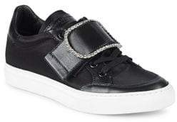 John Galliano Embellished Buckle Low-Top Sneakers