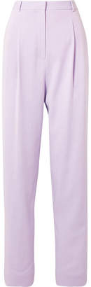 Pleated Crepe Tapered Pants - Lavender