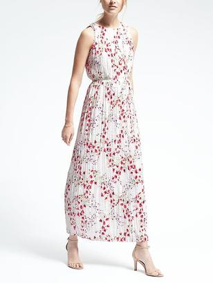 Floral Pleated Maxi Dress $158 thestylecure.com