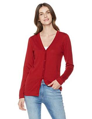The Best Gift to Friends Women's Acrylic/Cotton V-Neck with CF Button Cardigan Sweater