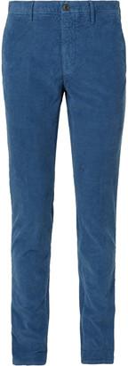 Incotex Blue Slim-Fit Stretch Cotton-Corduroy Trousers