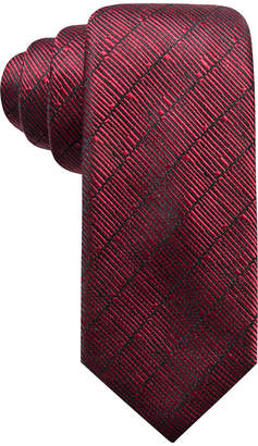 Alfani Men's Epping Slim Textured Multi-Stripe Silk Tie