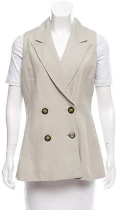 Christian Dior Peaked-Lapel Double-Breasted Vest