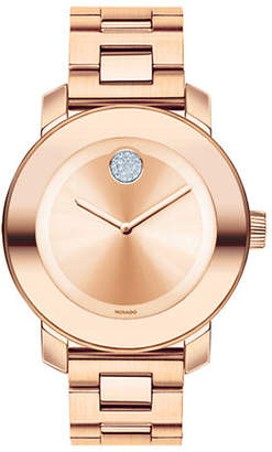 Movado Bold Rose Gold Plated Stainless Steel Watch