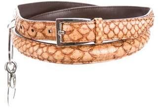 Christian Dior Python Logo Belt