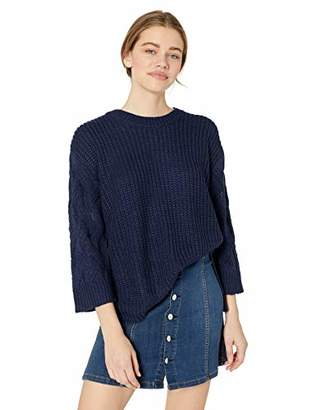 Jack by BB Dakota Junior's We've Got Cable Soft Sweater with Knit Sleeves